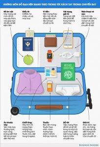 Những món đồ bất ly thân trong hành lý xách tay