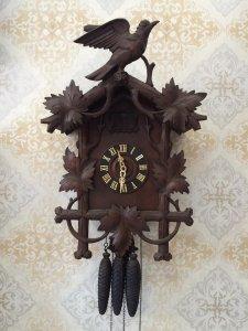 Đồng hồ Cuckoo mái nhà 3 tạ 8 ngày mẫu cổ ít gặp xuất sứ Đức 1945 !