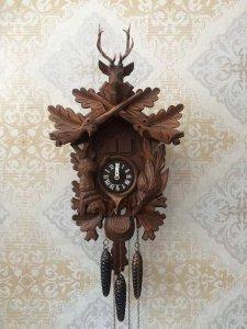 Đồng hồ treo tường cuckoo đầu nai 3 tạ tuyệt đẹp !