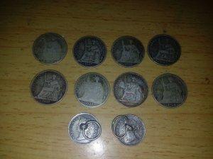 10 xu bạc nhỏ.