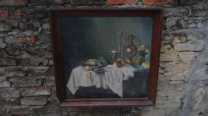 Tranh sơn dầu xưa phong cách Âu châu gửi các bác