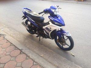Exciter 135cc xanh trắng GP 2013 côn tay 29S6-12958