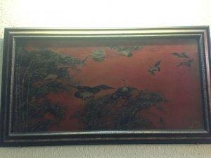 Giao lưu bức tranh sơn mài cổ của hoạ sĩ Lê Thanh Kích