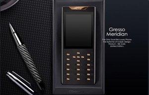 Gresso trình làng mẫu điện thoại sang chảnh mới, bàn phím nạm kim cương, khung titan.