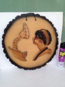 Tranh gỗ nghệ thuật, thủ công Nhật Bản.