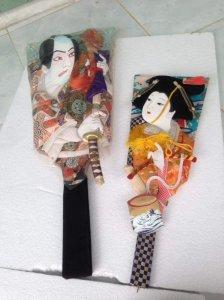 Tranh hình nộm trang trí, thủ công Japan.
