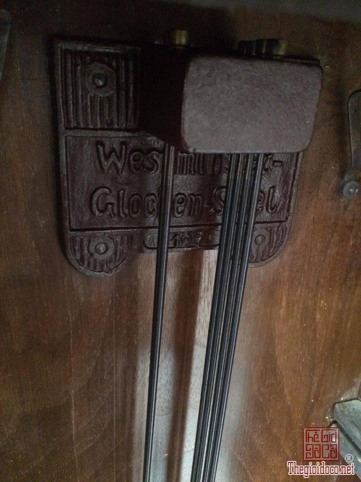 Đồng hồ treo tường Glocken - spiel xuất sứ Đức 1960 máy 42 vách lớn (8).jpg
