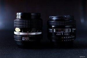 Nikon MF 35 f2 AIS và Nikon AF 35f2 sưu tầm