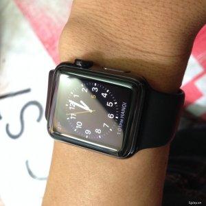 Bán em apple watch stainless steel 38mm mầu đen bóng (jest black) mới