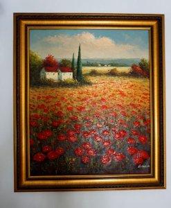 Tranh sơn dầu nước ngoài, đẹp nguyên bản, Họa sỹ nổi tiếng. Một tác phẩm nghệ thuật giá trị.