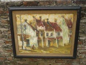 ranh sơn dầu nghệ thuật chơi Tết- Hàng cũ
