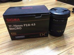 lens SIGMA 17-70mm DC F2.8-4.5 macro