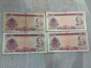 4 tờ 50 đồng 1976