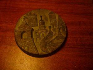 Chân nến hoa văn, kỷ vật Nga.