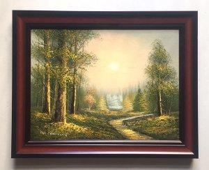 Tranh sơn dầu sưu tập, họa sỹ W. Norwood, tranh gốc xưa nguyên bản (không sao chép)