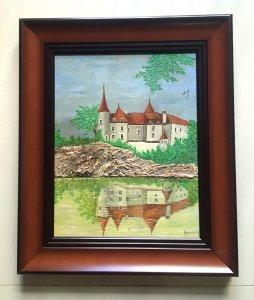 Tranh sơn dầu xưa (sơn dầu trên gỗ) của Pháp...