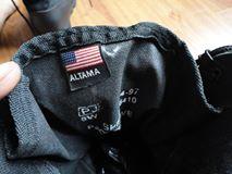 Giay` boost Altama, đen vải bố đen