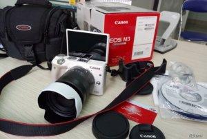 Canon M3, Lens 18-55 STM FullBox, New 99%