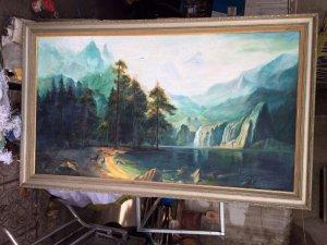 Tranh sơn dầu vẽ sơn thủy khổ lớn