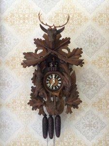 Đồng hồ cuckoo đầu nai tượng xoay 3 tạ 8 ngày xuất sứ Đức 1960 - 70s