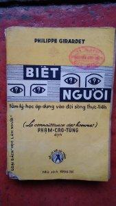 Bán 1 sách xưa, cuốn: Biết người- do Phạm Cao Tùng dịch. 300k.