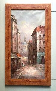 Tranh sơn dầu châu Âu, họa sỹ nổi tiếng Christo, cảnh đường phố châu Âu.