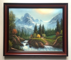 Tranh sơn dầu châu Âu (họa sỹ P.Daley), phong cảnh thiên nhiên tuyệt đẹp!
