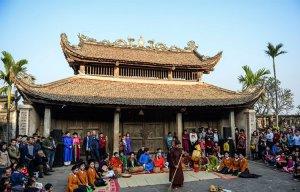Khung cảnh Tết Việt ở ngôi đình đẹp nhất xứ Đoài