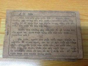 Sách tra IC radio-cassette