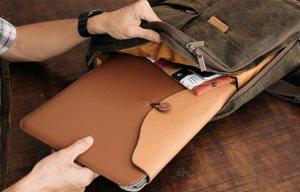 Bao da SEN Macbook: Làm bằng da, may bằng tay
