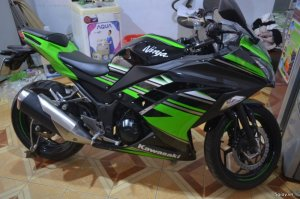Ninja 300 2016 ABS 98% odo 5k pô Akrapovic