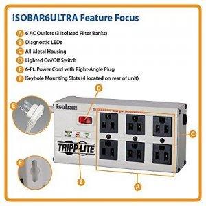Ổ cắm Lọc điện USA Chuyên Dụng ISOBAR TRIPP LITE Ultra 6 lỗ