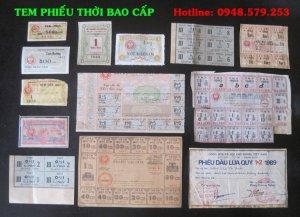 Bán 1 bộ tem phiếu mini sử dụng trong thời kỳ BAO CẤP.