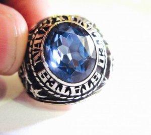 Nhẫn bạc xưa Navy