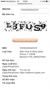 iphone 7 128Gb FPT còn BH 12/11/2017 đen nhám