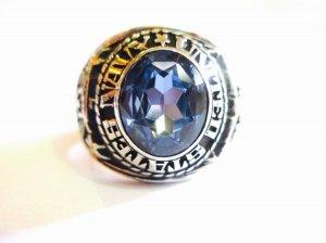 Nhẫn bạc xưa Navy size 20