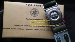 Dây Thắt lưng quân đội chiến thuật vải bố Tough .
