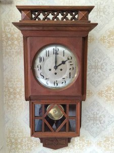 Đồng hồ Junghan 2 bộ gong mặt 22cm sx Đức 1930