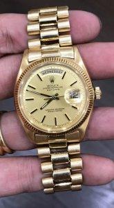 Rolex 1803 dây vỏ vàng đúc 18K zin Thuỵ Sỹ 100% Size 36mm