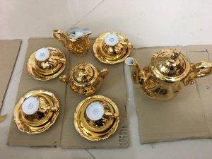 hàng mới về bộ ấm chén Bavaria mạ vàng