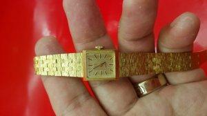 Omega nữ dạng lắc bọc vàng xưa chính hãng