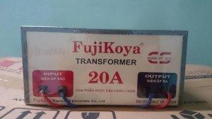 Biến áp từ 220v ra 100v-110v. FUJIKOYA 20A.