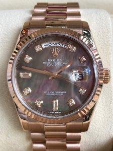 SOLD - Đồng hồ Rolex 118235 size 36mm mặt xà cừ,vàng khối 18k
