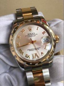 ( SOLD) Đồng hồ Rolex 178343 demi vàng size 31mm niềng đính kim cương