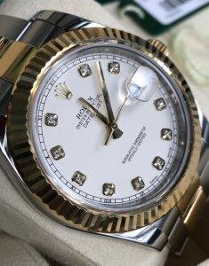 ( đã bán)Đồng hồ Rolex 116333 Date Just mặt trắng chính hãng