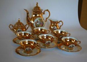 Xin giới thiệu bộ ấm chén Bavaria mạ vàng xuất xứ từ Đức