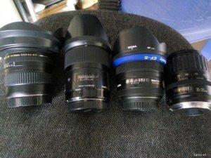 Lens Canon sigma 35A 1.4 - Sigma 50 1.4 Ex-HSM - Tamron 19-35 . 35-135
