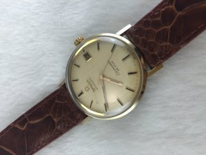Omega Seamaster Deville Automatic demi 14k gold Cal563 Dial's Veined Wood