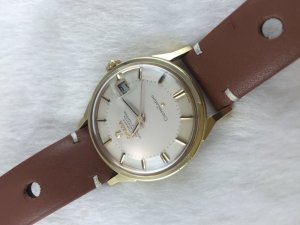 """Omega Constellation Chronometer Automatic Pie Pan """"dog leg"""" solid 14k gold Cal561 Dial's Ivory White"""