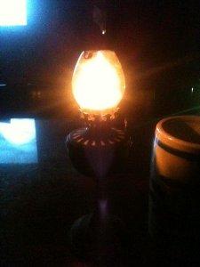 Giao lưu cây đèn dầu bằng đồng xưa